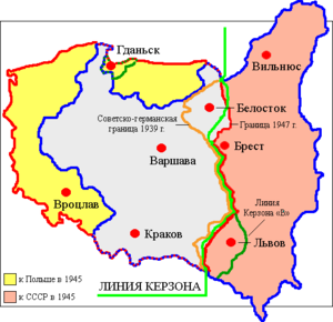 Map of Poland (1945) rus.png